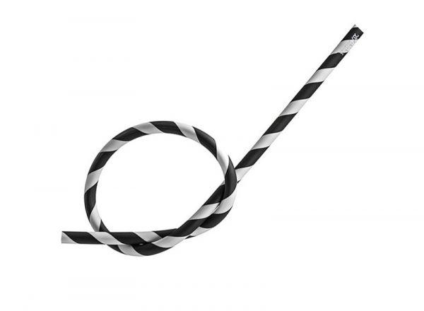Antistatischer Silikonschlauch matt - schwarz weiß