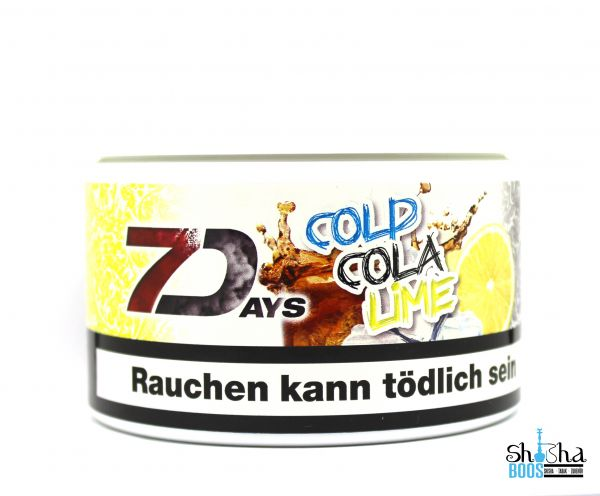 7 Days Tabak 200g - Cold Cola Lime