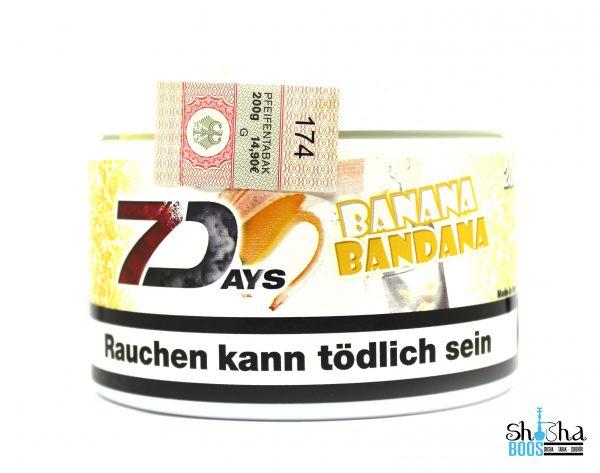 7 Days Tabak 200g - Banana Bandana