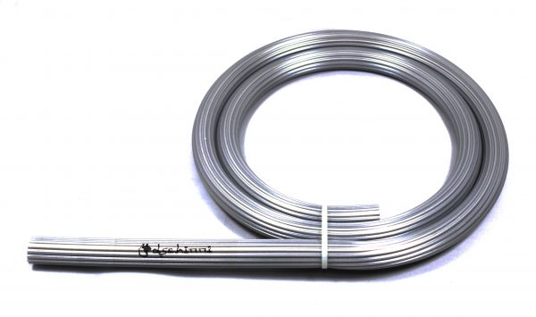 Dschinni Candyhose Silikonschlauch Silber 150cm