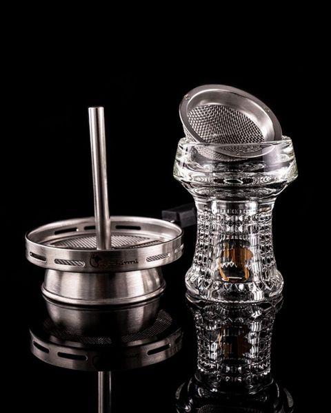 Dschinni Kristallkopf Nero Eco Pro + Seflex + Kaminaufsatz