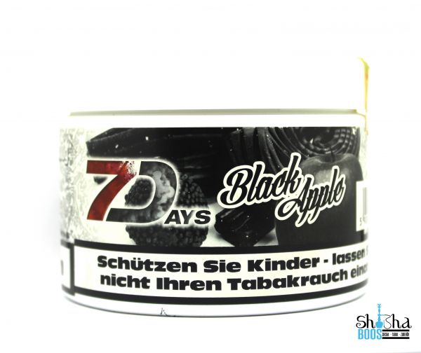 7 Days Tabak 200g - Black Apple