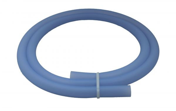 Antistatischer Lebensmittelechter Silikonschlauch matt Transparent Blau