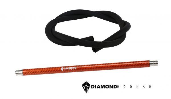Diamond Hookah Carbon Set Orange