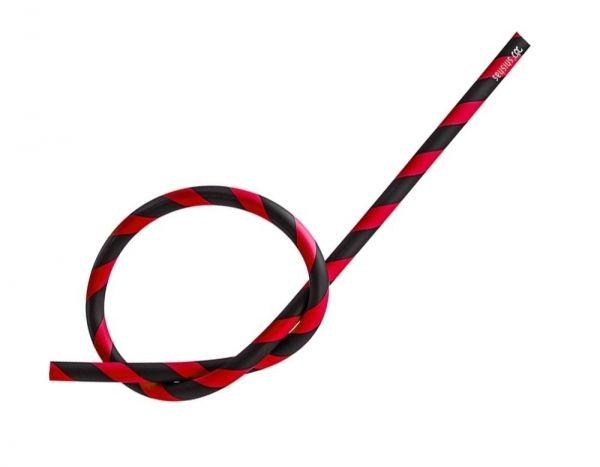Antistatischer Silikonschlauch matt - schwarz rot