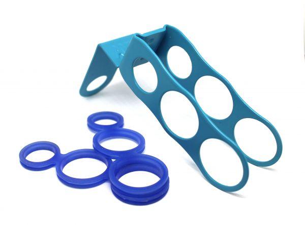 Amy Deluxe Schlauchhalter Set Blau